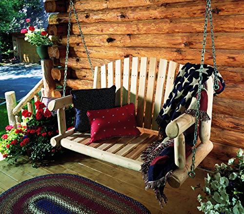 Cedarlooks 070026C Log Porch Swing, 4-Feet