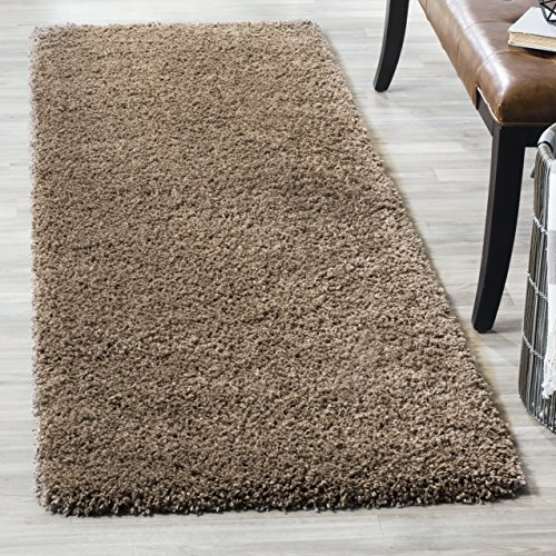 Safavieh California Premium Shag Collection SG151-2424 Taupe Runner (2'3″ x 5′)