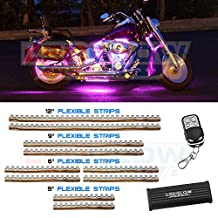 LEDGlow 10pc Pink LED Flexible Motorcycle Light Kit