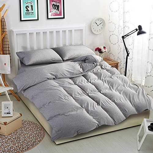 Ntbay 100 Organic Cotton Solid Color Duvet Cover With