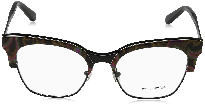 Monturas de gafas para Mujer Etro Et2113 014 52 Black Paisley