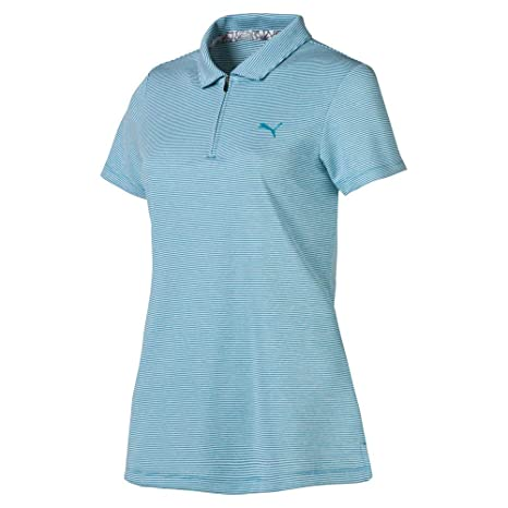 PUMA 2019 Soft Stripe Polo, Azul Verdoso, XS para Mujer: Amazon.es ...