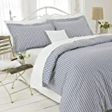 Great Knot, Gold Range Easycare Duvet Cover Set Stripe (Single 137cm x 200cm, Blue) by Great Knot