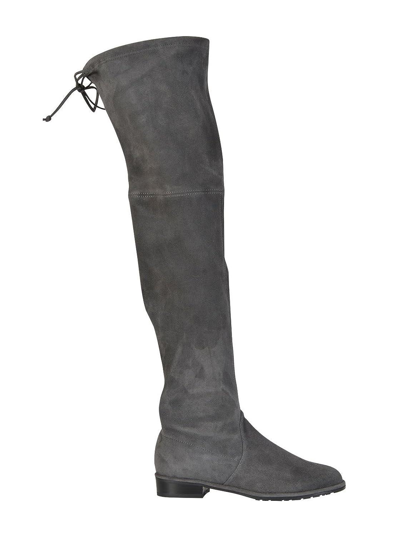 STUART WEITZMAN WOMEN'S LOWLANDSUEDESLATE GREY SUEDE BOOTS