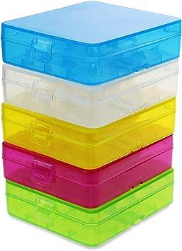 KEESIN Caja de Almacenamiento de la batería 18650 Caja Protectora de la batería Soporte de batería plástico enganchado para la batería 18650/18350 / CR123A / 16340 (4 células * 5 Piezas): Amazon.es: Electrónica