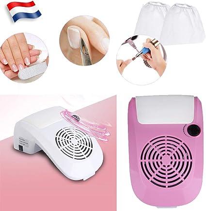 Aspirador de polvo de uñas, herramienta de limpieza manicura y pedicura, máquina Nail Art + 2 bolsas de polvo: Amazon.es: Belleza