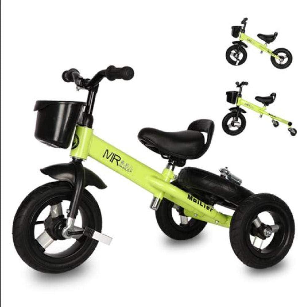 MENGLJ Equilibrar La Bicicleta para Niños De Doble Uso Dos En Uno 1-3-6 Años 2 Bebé Deslizante Sin Pedal Niños Bicicleta Deslizante