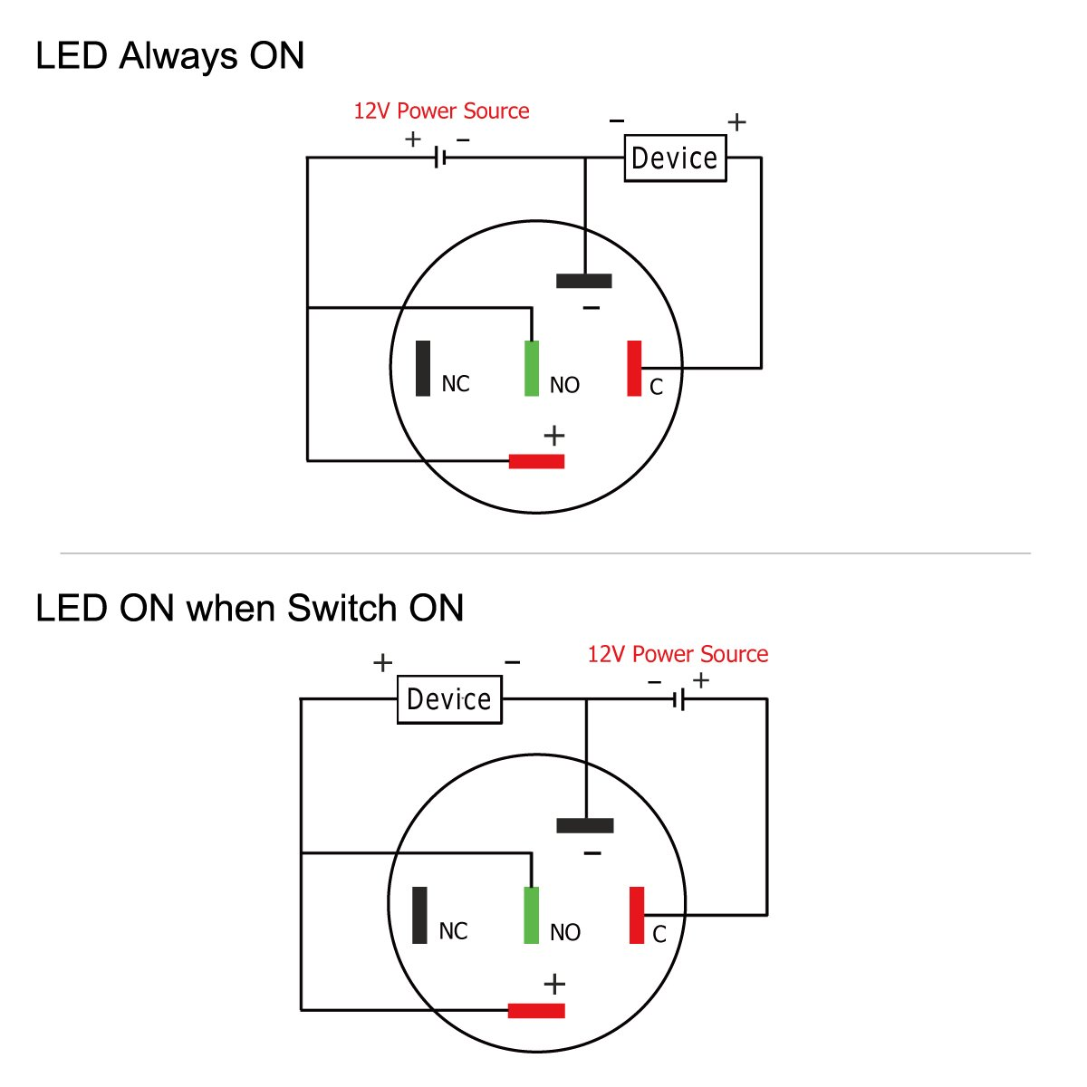 Taien Latching Pushbutton Switch For 16mm 5 8 Mounting 12v Push Button Selflock Square Led Light Momentary Hole On Off Black Metal Shell With White Automotive
