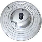 """UPIT Universal Frying Pan Lid Fits 9.5"""", 10"""", 11"""" and 12"""" Diameter Pots and Pans"""