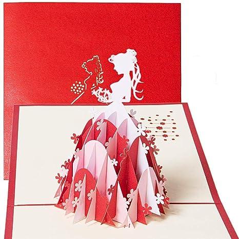 KFYOUXIN Tarjeta del Día De San Valentín Nota Tarjetas Hueco ...