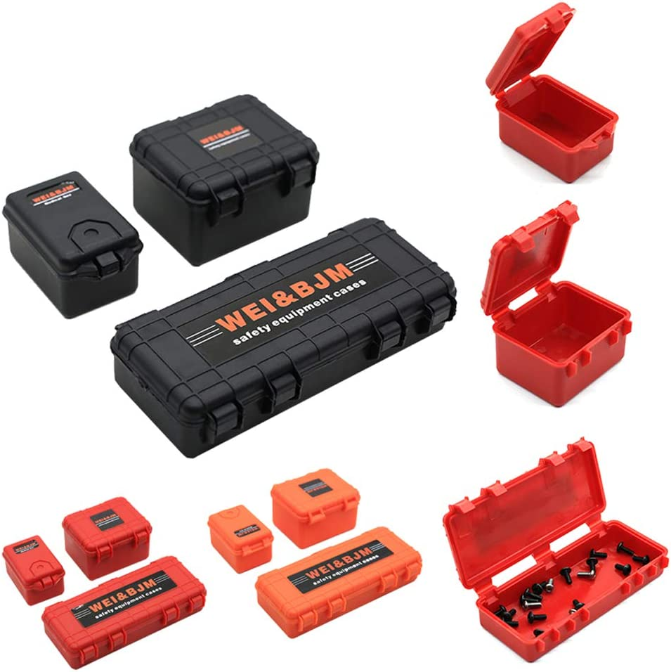 Zachao88 1//10 RC Car Luggage Case,Storage Box Decoration Case for TRX4 Axial SCX10 90046 RC Rock Crawler Simulation Decoration Accessory