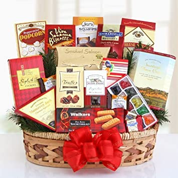 Amazon.com : Top Shelf Gourmet Foods Premium Gift Basket | Christmas ...