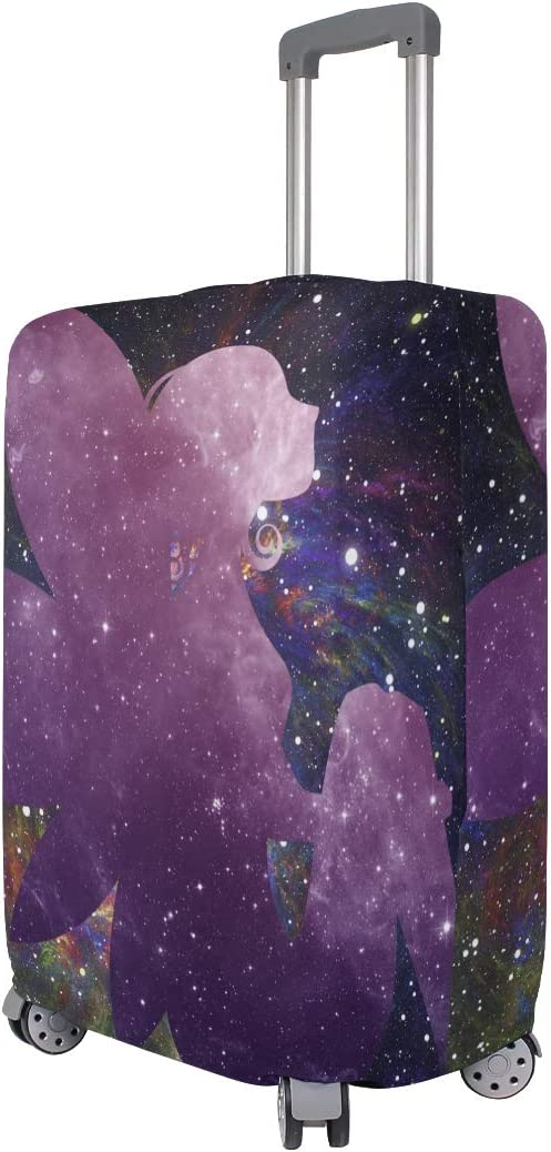 Nanmma Cute 3D Galaxy Fairy Pattern Luggage Protector Travel Luggage Cover Trolley Case Protective Cover Fits 18-32 Inch