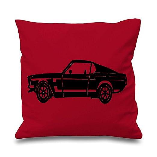 Ford Mustang 1969 silueta cojín manta funda de almohada ...