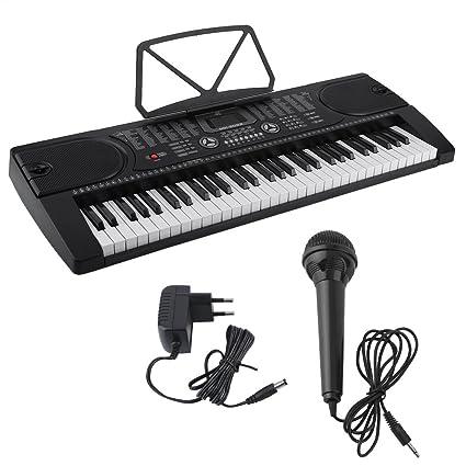 Teclados electrónicos portátil, teclado piano, Teclado estándar con 61 Brillando teclas sensibles al tacto