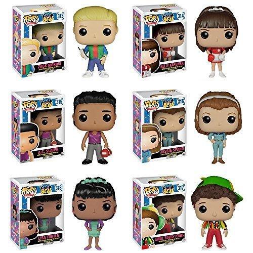 POP! TV: Saved By the Bell Zack Morris, Kelly Kapowski, A.C. Slater, Jessie Spano, Lisa Turtle, Screech Set of 6 (Saved By The Bell Jessie And Slater)