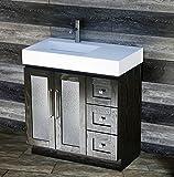 36 Bathroom Vanity with Top Elimax's Solid Wood 36