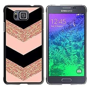 Be Good Phone Accessory // Dura Cáscara cubierta Protectora Caso Carcasa Funda de Protección para Samsung GALAXY ALPHA G850 // chevron dress fashion glitter gold pattern