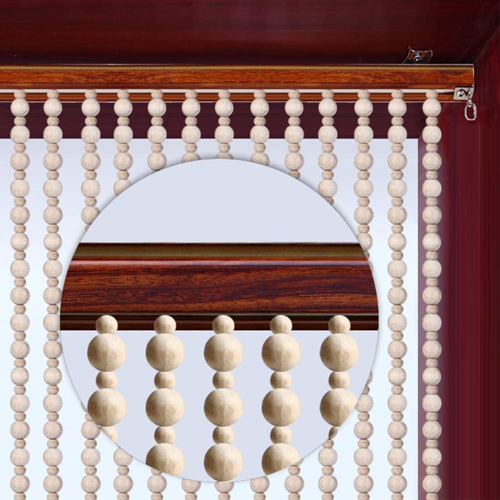 GDMING Madera Cortina De Cuentas Natural Cortinas De Hilos for Puertas Tabique Panel De La Ventana Sala Sala De Te Decoración,Personalizable (Color : White, Size : 25 Strands 85x198cm): Amazon.es: Hogar