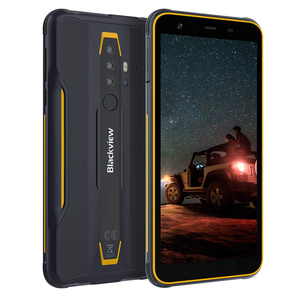 Blackview BV6300 Rugged Phone, Android 10 Outdoor Smartphone 4G Dual SIM IP68 Shockproof Waterproof Phone, 5.7'' MTkA25 Processore Octa-Core 3GB + 32GB, 4380mAh, 13MP Quad Rear HDR, NFC/OTG-Orange