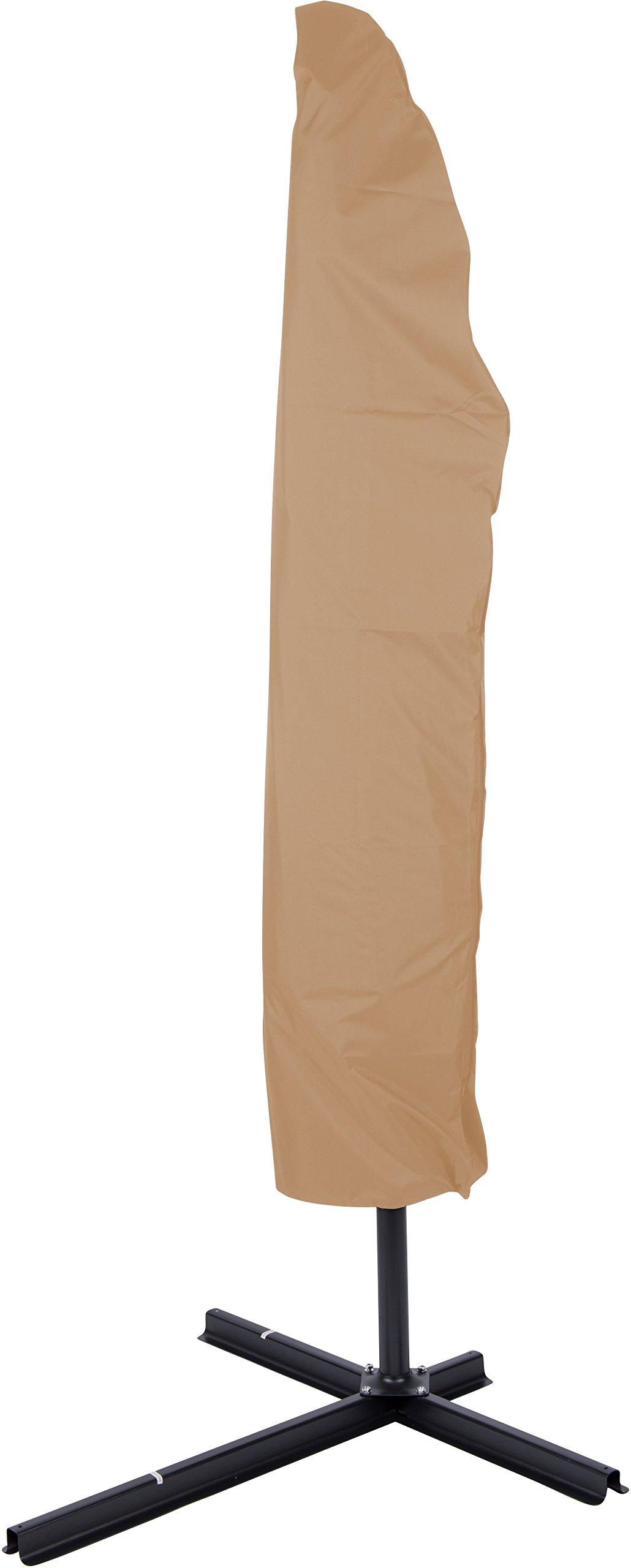 Trademark Innovations Offset Umbrella Cover for Patio Umbrella, Tan, 10'