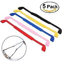 NUOLUX 5 colores gafas de sol anteojos gafas antideslizante elástico de silicona banda para la cabeza