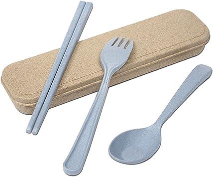 tentock trigo paja juego de cubiertos de plástico biodegradable 3 ...