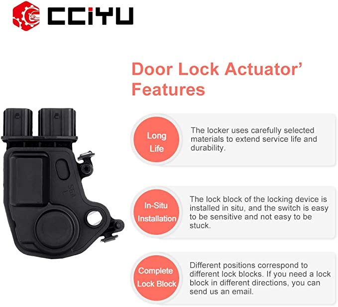 SCITOO Power Door Lock Actuators Front Left Door Latch Replacement Fits for Acura RSX Honda CR-V 2002-2006 Honda Accord 2003-2007 Honda Pilot 2003-2008 Honda Odyssey 2005-2010 72155S5PA11
