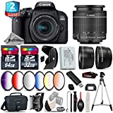 Canon EOS Rebel 800D/T7i Camera + 18-55mm IS STM Lens + 64GB Class 10 Memory Card + 6PC Graduated Color Filter Set + 2yr Extended Warranty + 32GB Class 10 Memory Card - International Version