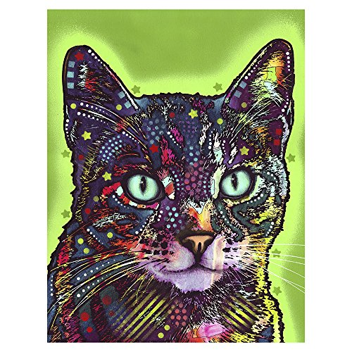 Dean Russo Watchful Cat  Metal Artwork   Wall Decor