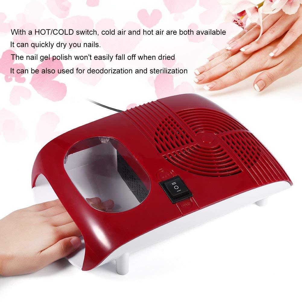 Amazon.com : Cool hot nail polish quick drying hair dryer nail dryer air drying nail polish belt automatic sensor : Beauty