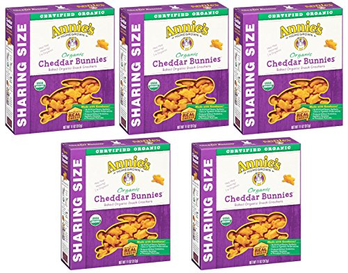 Annie's Homegrown Organic Cheddar Crackers, Bunnies, 11 Ounce by Annie's Homegrown