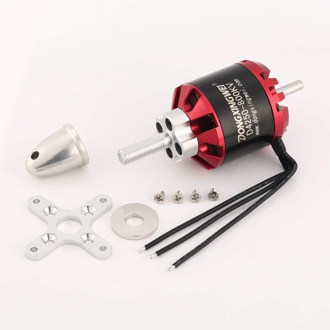 Lorenlli D4250 800KV 3-7S Outrunner Brushless Motor per RC FPV Fixed Wing Drone Airplane Aircraft Quadcopter Multicopter