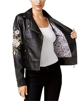 48fac737d763 Jou Jou Juniors  Embroidered Faux-Leather Moto Jacket (Medium