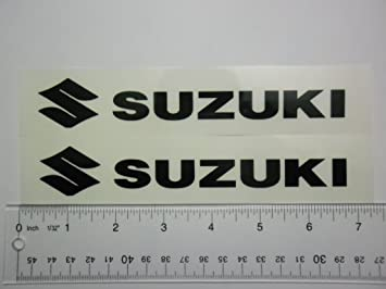 Amazoncom Suzuki Motorcycle Sticker Xblack On White Vinyl - Suzuki motorcycles stickers