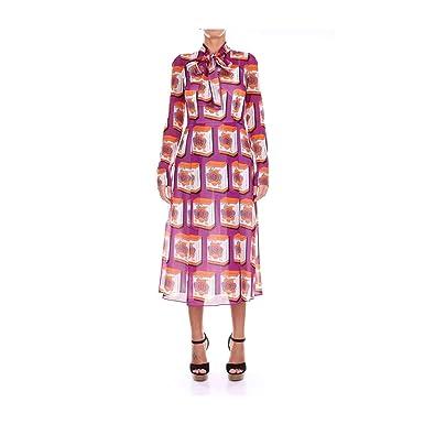 DOLCE   GABBANA F69P4TFSAVS Vestiti Donna Multicolor 42  Amazon.it ... a455e9d0905