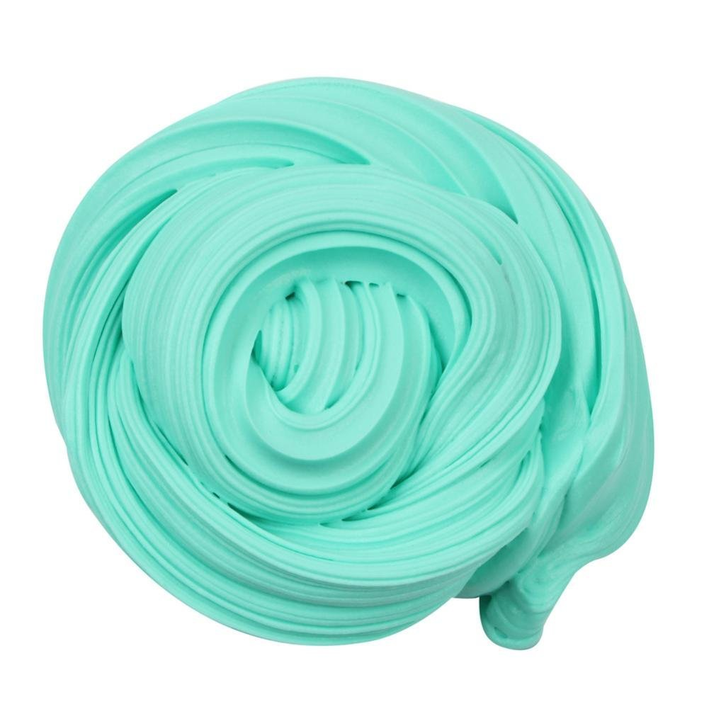 Jeeke Beautiful Color Slime Putty Toy Fashion Scented Clay Toy for Kids and Adults (Green, 1 Pcs 50ml)