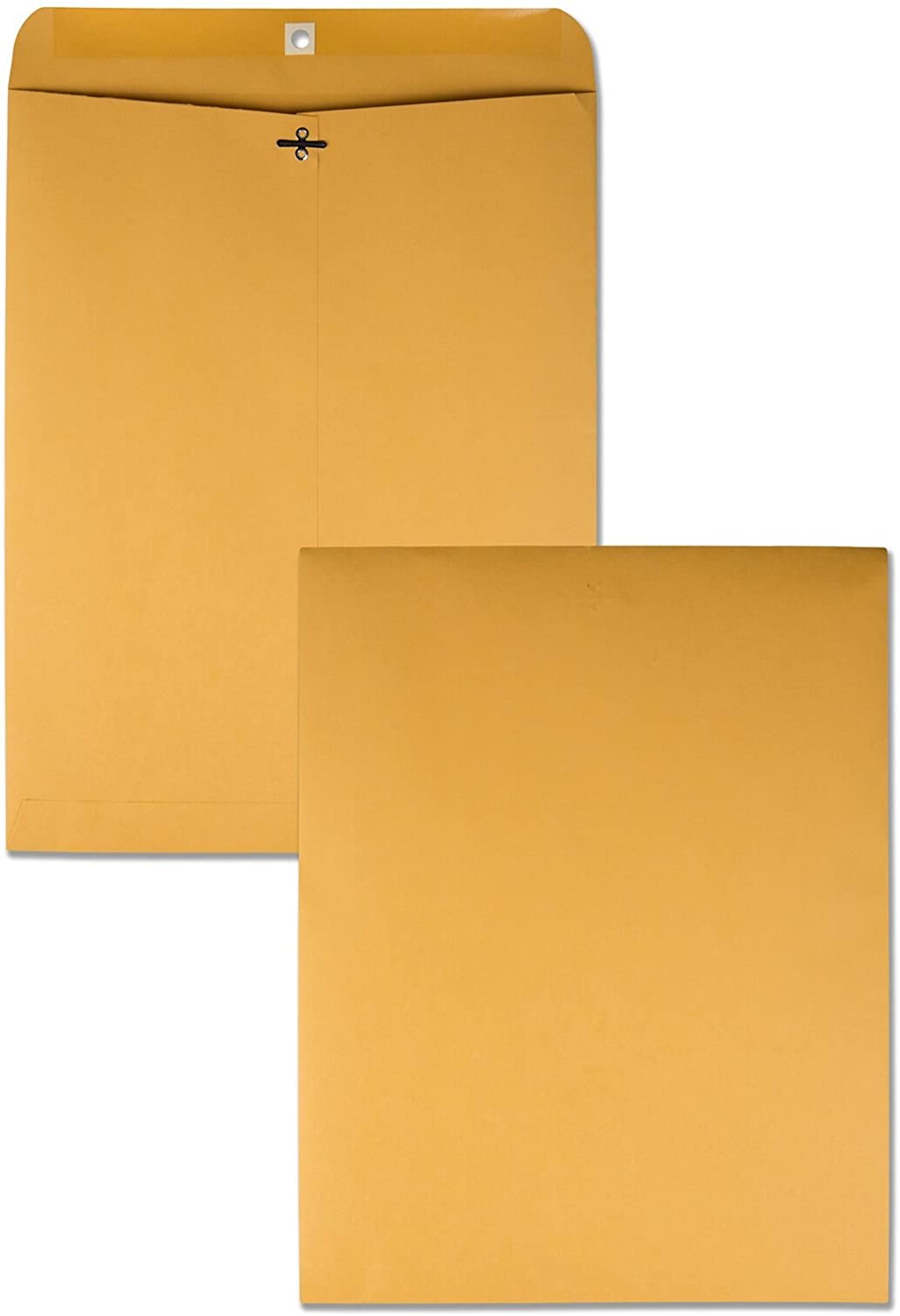 Quality Park 12 x 15-1/2 Clasp Envelopes, Clasp and Gummed Closures, for Oversized Papers, Drawings or Posters, 28 lb Kraft Paper, 100/Box (QUA37810) : Office Products