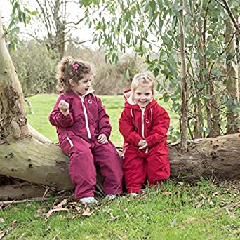Hippychick Waterproof Fleeced Lined One Piece Coverall Splashsuit Snowsuit for Kids Essential Outdoor Clothing