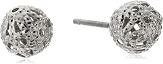 product image for 1928 Jewelry Silver-Tone Filigree Bead Stud Earrings