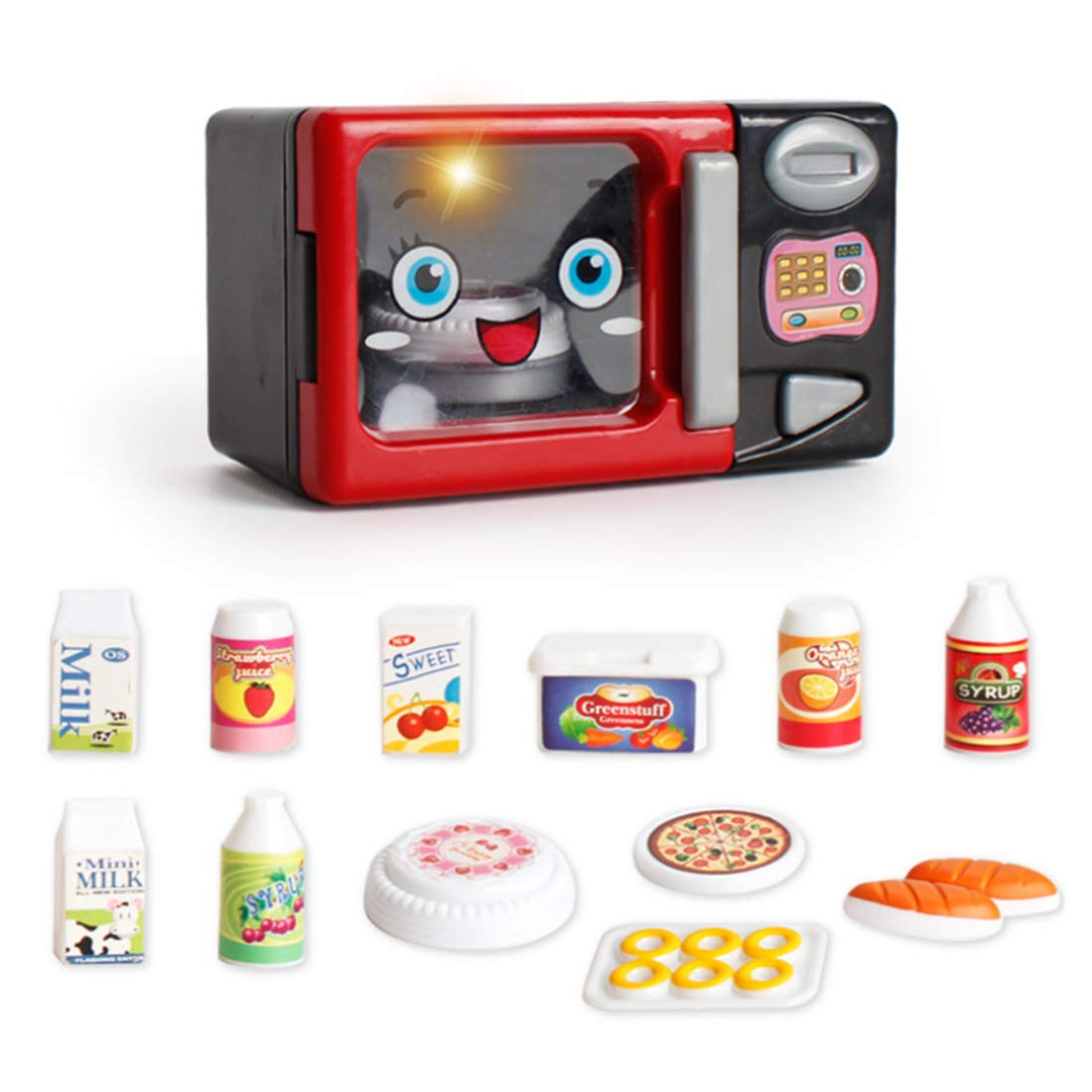 HMANE Kitchen Household Pretend Play Toys Kit Simulation Appliances Educational Toys for Kids Toddlers - (Microwave Oven)
