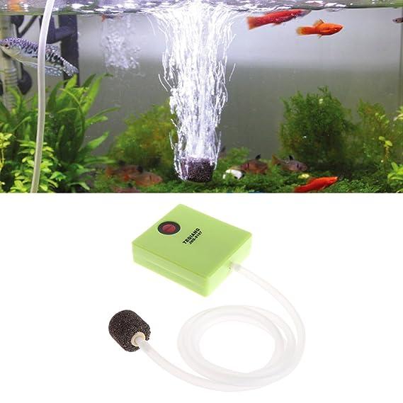 Dabixx Aireador de aire para acuario, funciona con pilas, con piedra de aire, 7 x 6,4 x 2 cm: Amazon.es: Hogar