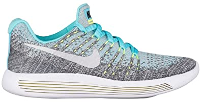 920e8f5f68074 Nike Girls Lunarepic Low Flyknit 2 GS Wolf Grey/Metallic Silver Shoe 869989  001 (