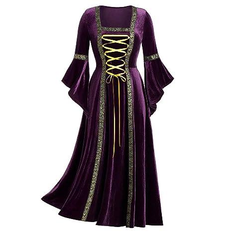 Dwevkeful Carnaval Vintage Vestido de Traje Renacentista ...