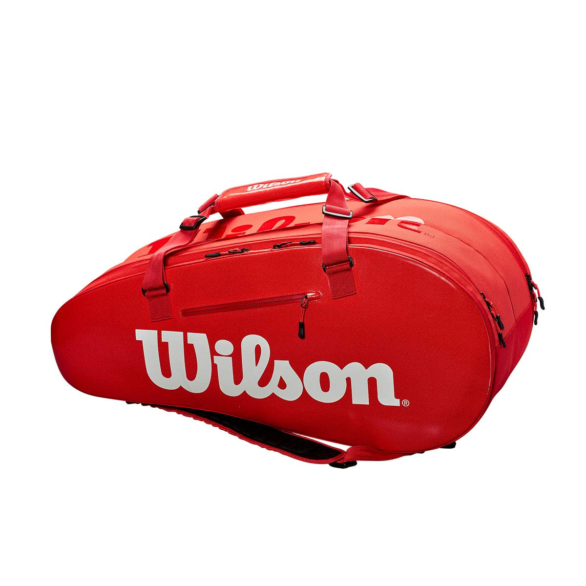 Wilson Sporting Goods Super Tour 2 Large Compartment Tennis Bag, Red/White