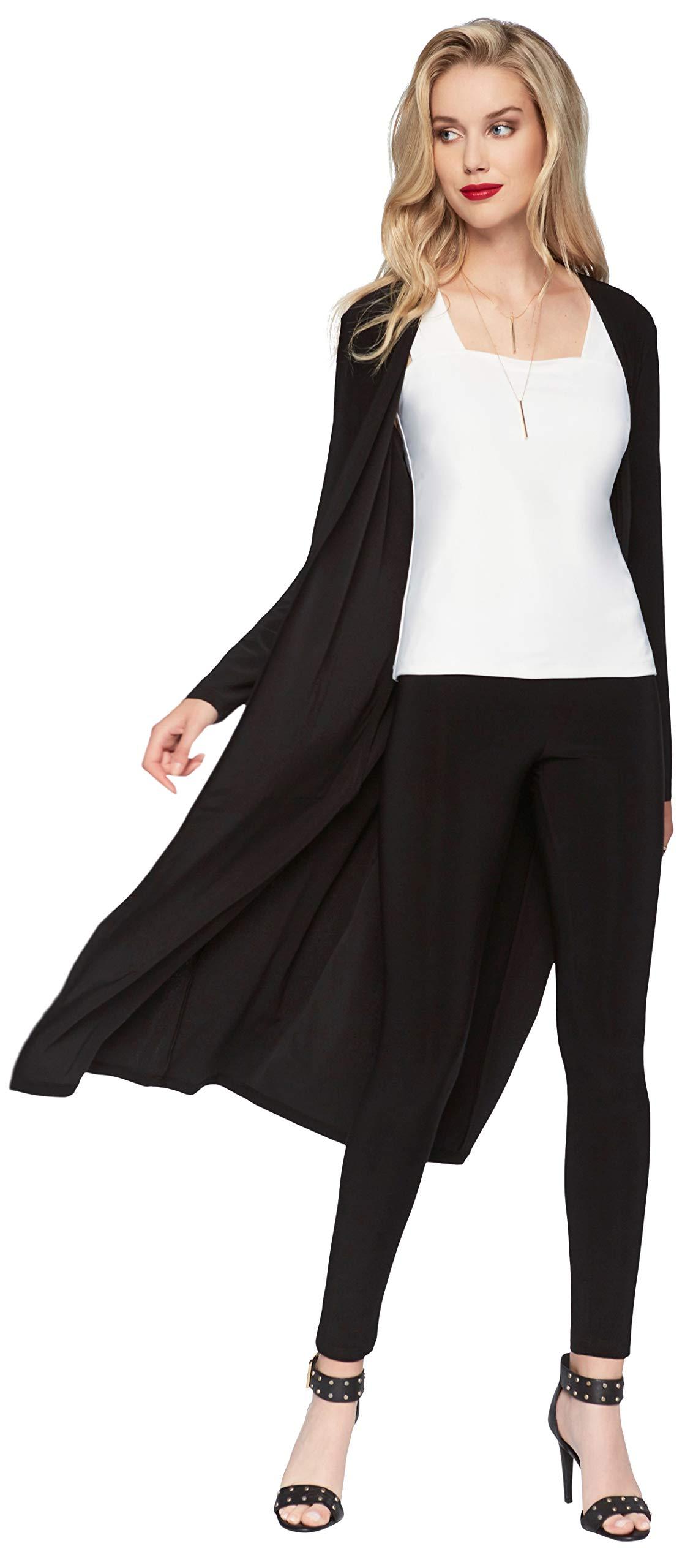 Frank Lyman Womens Long Duster Cardigan Style 53060 Size 12 Black by Frank Lyman