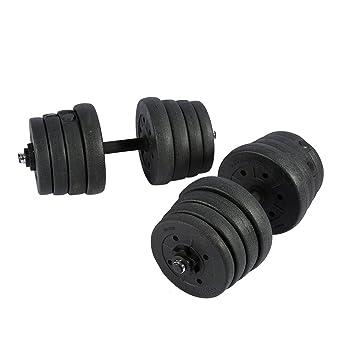 2 Mancuernas Juego de Pesas 30 kg, Gym Entrenamiento Bíceps Tríceps para Entrenamiento con Pesas Gratis: Amazon.es: Deportes y aire libre