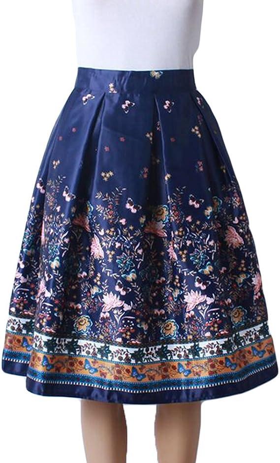 ZKOO Moda Falda para Mujer Casual Faldas de Rodilla Longitud Midi ...