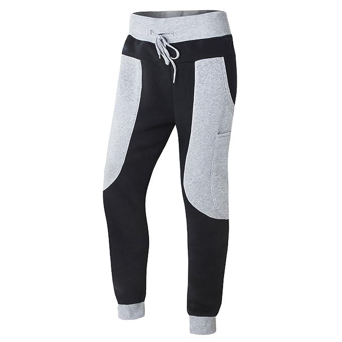 AIRAVATA Hombres Moda Pantalones Chandal Deportes Delgado ajuste ...