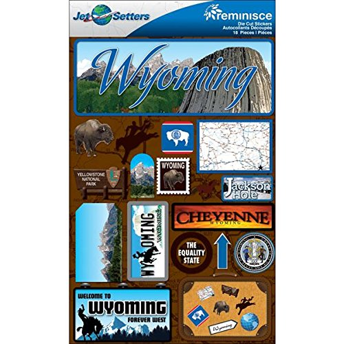 (Reminisce Jet Setters 2 3-Dimensional Sticker, Wyoming)